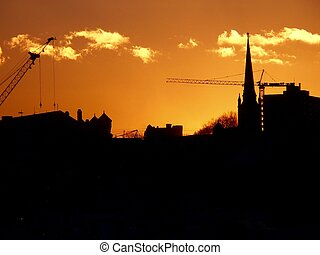 City Silouette - Sunset in the City