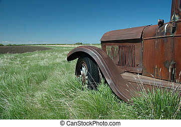 Old Timer 4 - Old rusty truck in a field on the prairies