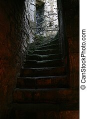Ancient Castle Stairway