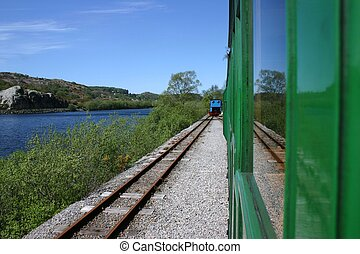 Rearward Llanberis Rail - Looking rearward on Llanberis Lake...