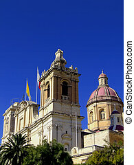St. Lawrence Church in the historical city of Vittoriosa in...