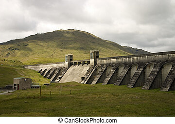 Loch Lyon Dam 1 - The Hydro Electric Power Dam at Loch Lyon...