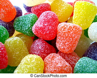 Gum Drops - A photo of gum drops.