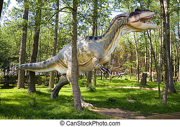 Allosaurus fragilis - Jurassic park - set of dinosaurs -...
