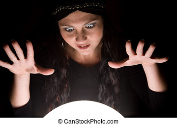 Foretuneteller madness - Foretunneller looking into her...