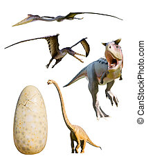 four most popular dinosaurs - clipping paths - four most...