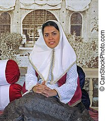 Persian Lady - young women dressed in traditional old world...