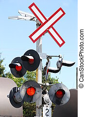 railroad lights - railroad crossing