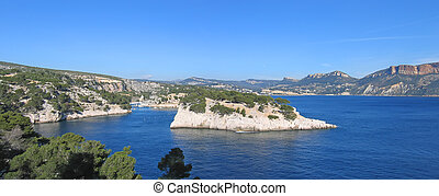 French calanques of Cassis - Marseille - South of France -...