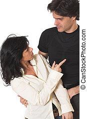 portrait of couple arguing