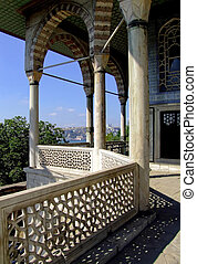 Turkish palace - View of Istanbul from Luxurious and famous...