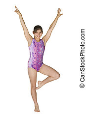 12 year old girl in gymnastics poses - Model Release 280 12...