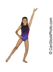 8 year old girl in gymnastics poses - Model Release 286 8...