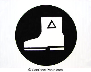 Safety Boot - Safety boots required sign