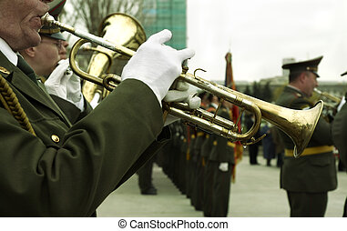 army brass band - special toned photo fx, focus point on...