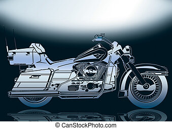 Motorbike 2 - motorcycle in silver with black back ground