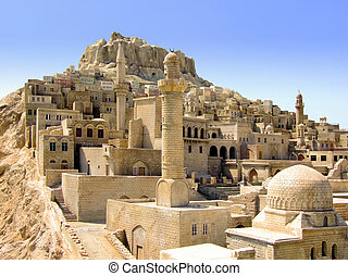 Middle East - Old medieval Middle East city on the hill