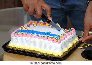 Cutting Cake - Curtting Cake Cutting to celeberate - cocept...