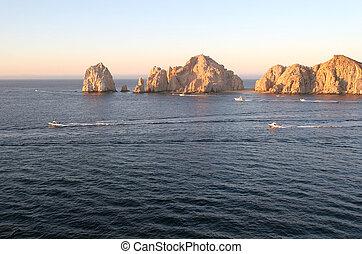 Cabo Rocks at Dawn - The rocks at Cabo San Lucas at Dawn...