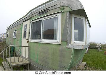beachfront mobile home in trailer park montauk, long,...