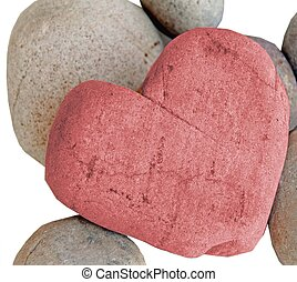 heart of stone - natural pink heart shape stone
