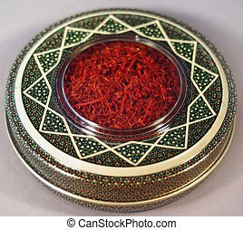 saffron - pretty display of saffron spice...