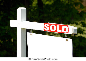 House Sold - Residential Real Estate House For Sale Sign,...