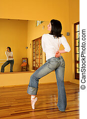 Modern Dancer 8 - Modern Ballet Dancer in blue jeans and...