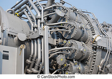 turbine - close up of turbine generator machinery