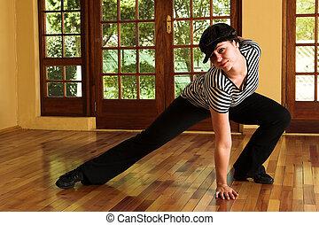 topo, modernos, dançarino, pretas, excitado, listrado,...