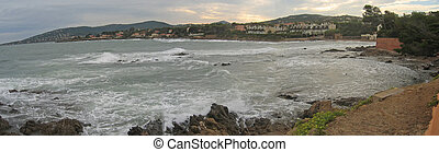 Sainte Maxime sea bay from Saint Aygulf, Saint Raphael and...