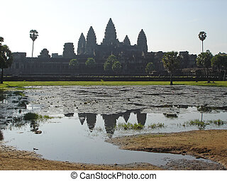 The imperial old khmer city, Angkor Vat, Angkor temples,...