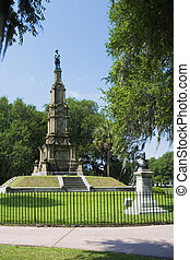 Confederate Monument - Forsyth Parks Confederate Monument in...