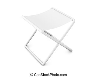 Folding Chair - 3D Illustration.