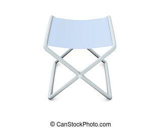 Folding Chair - Textured - 3D Illustration.