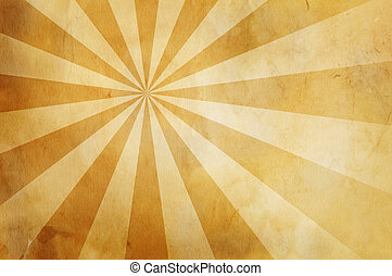 warm vintage background with dark border and rays - great...