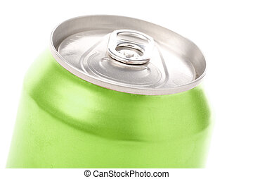 soda can - green blank soda can with white background
