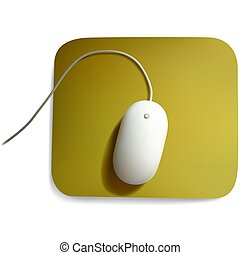 White Computer mouse - Highly detailed and photorealistic...