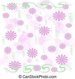 pink flowers wrap - pink flowers and green vines scattered...