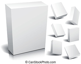 Blank box - Blank 3d boxes ready to use in your designs