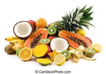 tropicais, frutas