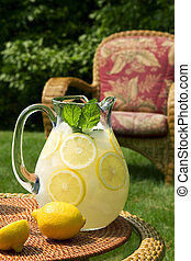 Lemonade - A pitcher of fresh lemonade