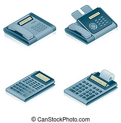 Computer Hardware Icons Set - Design Elements 57a