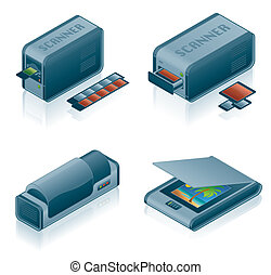 Computer Hardware Icons Set - Design Elements 5h