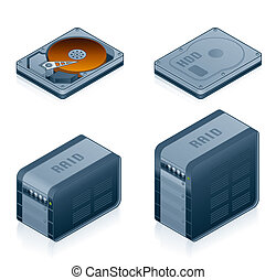 Computer Hardware Icons Set - Design Elements 55d