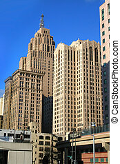 DOWNTOWN DETROIT - High rise buildings in downtown Detroit