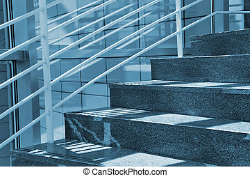 Modern Stairs - Modern Marble Stairs in Business building