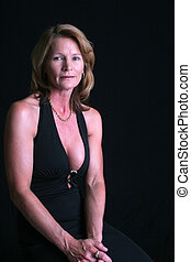 Pretty sexy mature woman - A pretty and sexy mature woman in...