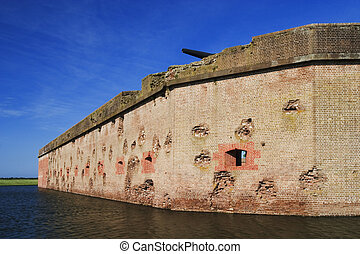 Fort Pulaski National Monument built 1829 to 1847 wall...