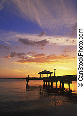 Sunset along Florida\\\'s Gulf Coast, Ft. Myers, Florida